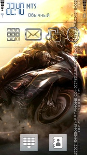 Bike Drift theme screenshot