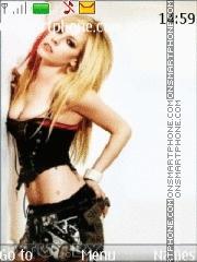 Avril lavigne 14 theme screenshot