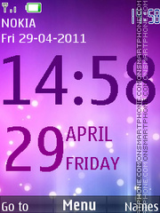 Aurora Big Clock theme screenshot