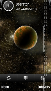 Space theme screenshot