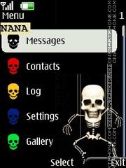 Funny Skeleton CLK theme screenshot