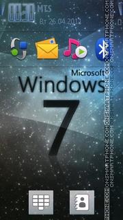 Digital Windows Clock theme screenshot