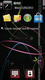 Symbain abstract tema screenshot