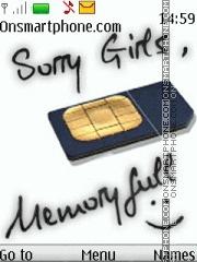 Memory Full es el tema de pantalla