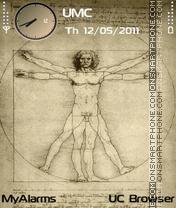Vitruvian Man (fp1) es el tema de pantalla