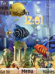 Animated Fish Tank 01 theme screenshot