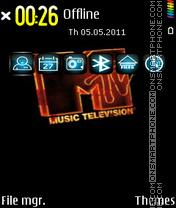 Music Mtv Edition es el tema de pantalla