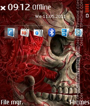 Red Skull 03 theme screenshot