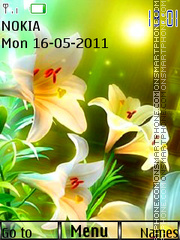 White Flowers 02 theme screenshot