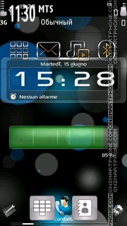 X6 Battery Clock 01 theme screenshot