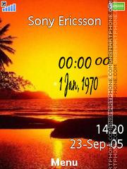 Sunset Clock 02 es el tema de pantalla
