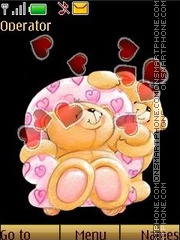 Bears in love swf theme screenshot
