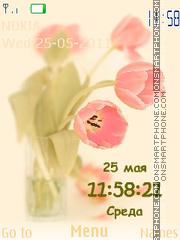 Tulips Clock es el tema de pantalla