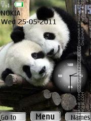 Panda Clock theme screenshot