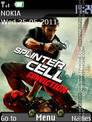 Splinter Cell Conviction with Mp3 theme screenshot