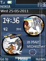 Tom and Jerry Clock 3d tema screenshot