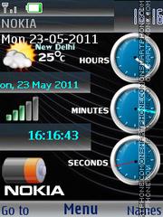 Super Nokia Clocks es el tema de pantalla