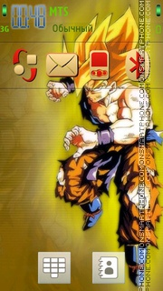 Goku Redish V1 theme screenshot