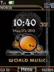 World music theme screenshot