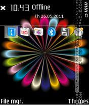 Rainbow colors 02 es el tema de pantalla