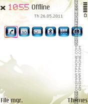 Special Blue V1 theme screenshot