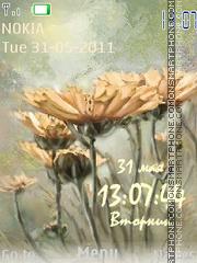 Flowers Clock3 es el tema de pantalla