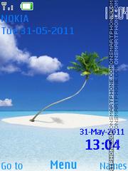 Island Clock es el tema de pantalla