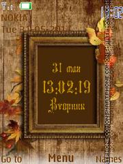 Autumn Clock es el tema de pantalla