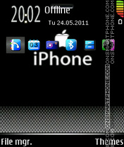 Iphone Black 02 es el tema de pantalla
