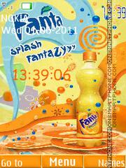 Capture d'écran Fanta Clock thème