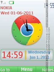 Chrome Clock es el tema de pantalla