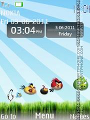 Angry Bird Clock theme screenshot