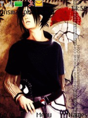 Sasuke Uchiha theme screenshot