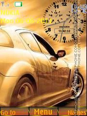 Beautiful Car and Clock theme screenshot