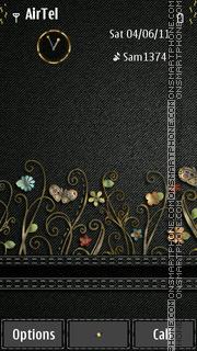 Floral Denim es el tema de pantalla