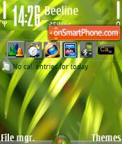 Vista Plants es el tema de pantalla