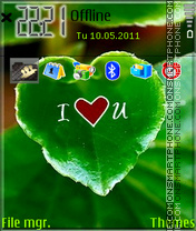 Nature Love es el tema de pantalla