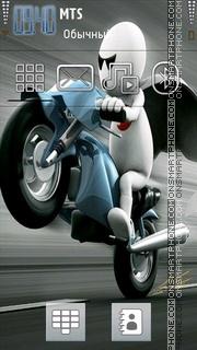 Zoo Zoo Bike theme screenshot