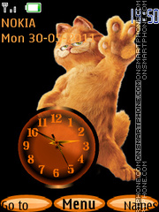 Garfield Clock theme screenshot