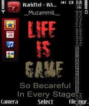 Life Is Game es el tema de pantalla
