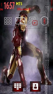 Iron Man Movie tema screenshot