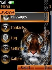 Abstract Tiger CLK tema screenshot