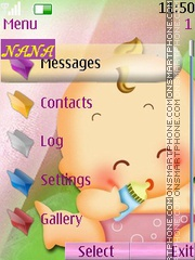 Cute Baby CLK theme screenshot