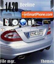 Mercedes CLK es el tema de pantalla